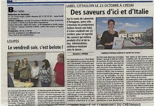 Article CITTASLOW Le Resistant